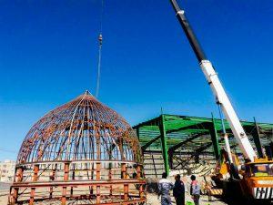 ساخت گنبد در بیرجند