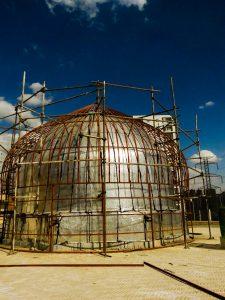 ساخت گنبد مسجد مهر